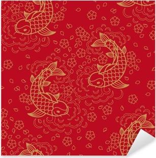 Vinilo Pixerstick Vector sin patrón chino