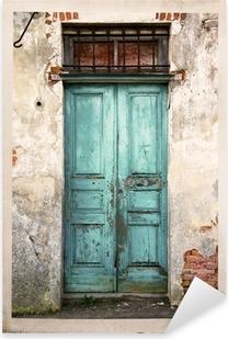 Vinilo Pixerstick Vieja fotografía puerta de la vendimia