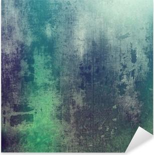 Vinilo Pixerstick Vieja textura como fondo abstracto del grunge. Con diferentes patrones de color: green; Violeta púrpura); gris; cian