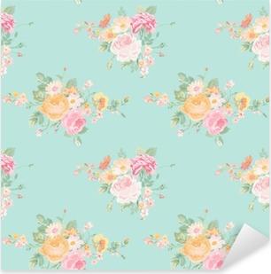 Vinilo Pixerstick Vintage Flores Antecedentes - sin patrón floral elegante lamentable