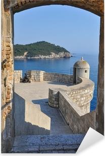 Vinilo Pixerstick Vista desde las murallas de Dubrovnik