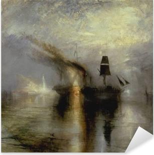 Vinilo Pixerstick William Turner - Entierro en el mar