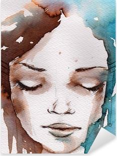 Vinilo Pixerstick Winter, retrato frío