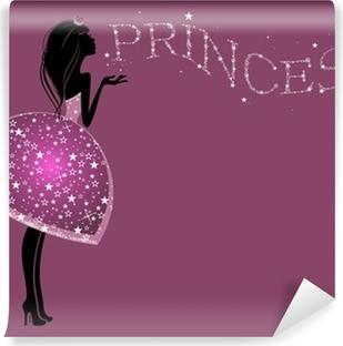Красивая Принцесса в платье с блестками Vinyl Wall Mural