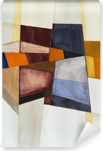 a modernist abstract watercolor Vinyl Wall Mural