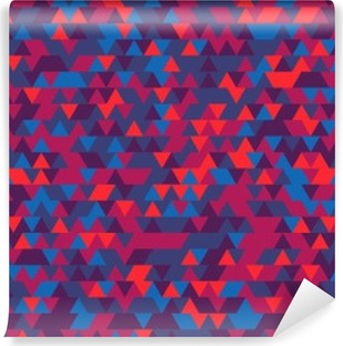 Abstract background of the triangles. The gradation of Violet. Violet hues. Vinyl Wall Mural