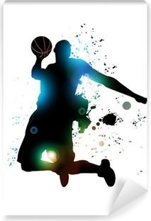 Abstract Basketball Player Vinyl Wall Mural