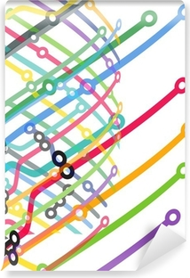Abstract color metro scheme background Vinyl Wall Mural