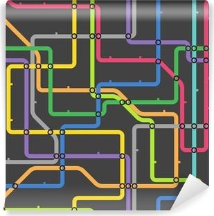 Abstract color metro scheme Vinyl Wall Mural