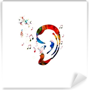 Abstract colorful ear vector Vinyl Wall Mural