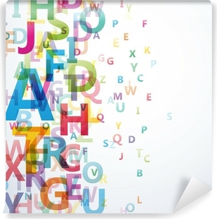 Abstract Colour Alphabet on white background # Vector Vinyl Wall Mural