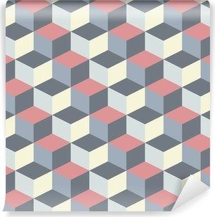 abstract cubic geometric pattern background Vinyl Wall Mural