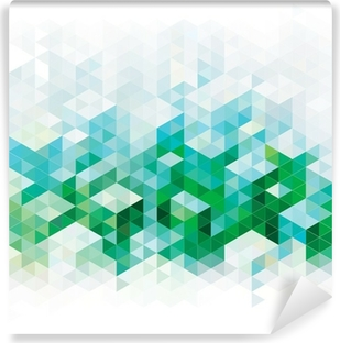 Abstract geometric green urban background. Vinyl Wall Mural
