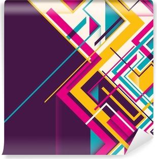 Abstract geometric illustration. Vinyl Wall Mural