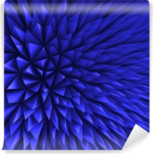 Abstract Poligon Chaotic Blue Background Vinyl Wall Mural