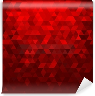 Abstract red mosaic background Vinyl Wall Mural
