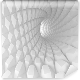 Abstract Spiral Tunnel Render Vinyl Wall Mural