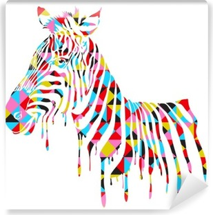 Abstract zebra - vector illustration Vinyl Wall Mural