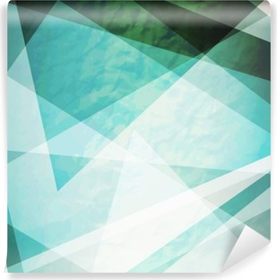 Abstraction retro grunge triangles vector background Vinyl Wall Mural