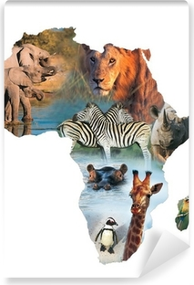 africa collage Vinyl Wall Mural
