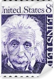 Albert Einstein portrait on US postage stamp Vinyl Wall Mural