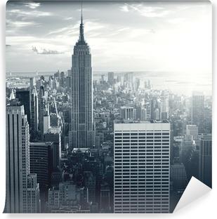 Amazing view to New York Manhattan at sunset Vinyl Wall Mural