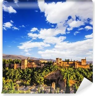 Ancient arabic fortress of Alhambra, Granada, Spain Vinyl Wall Mural