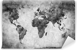 Vintage world map with blue background wall mural pixers we ancient old world map a sketch grunge vintage background vinyl wall mural gumiabroncs Images