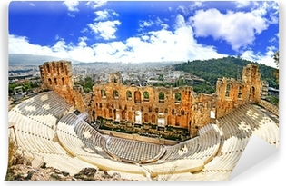 ancient theater in Acropolis Greece, Athnes Vinyl Wall Mural