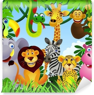 Animal Cartoon Vinyl Wall Mural