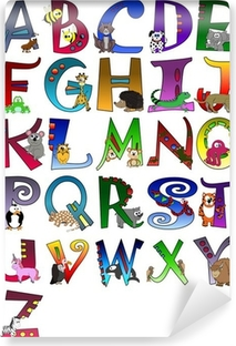 Animal Themed Alphabet Poster A - Z Poster Vinyl Wall Mural
