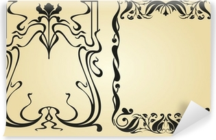 Art Nouveau design framework and elements Vinyl Wall Mural