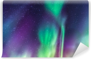 Aurora Borealis on a starry sky Vinyl Wall Mural