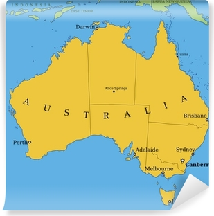 Australia Map Provinces.Australia Map With States Vector Illustration Wall Mural Pixers