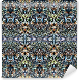 Background fabric indian style Vinyl Wall Mural