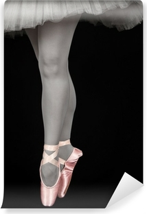 Ballet dancer standing on toes while dancing artistic converion Vinyl Wall Mural