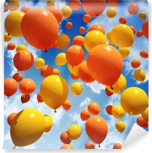Balloon's released into the sky Vinyl Wall Mural