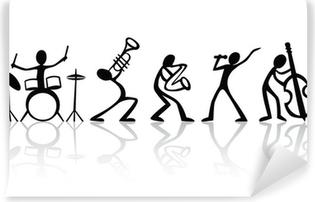 Band musicians group hand drawn vector t-shirt art Vinyl Wall Mural