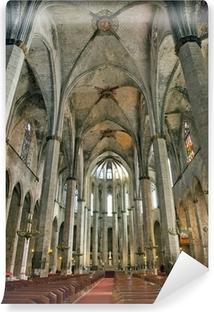 Barcelona gothic cathedral Santa Maria del marinterior Wall Mural