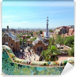BARCELONA, SPAIN : The famous Park Guell Vinyl Wall Mural