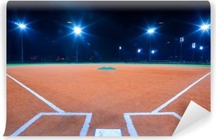 Baseball diamond at night Vinyl Wall Mural