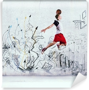 Basketball player Vinyl Wall Mural