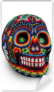 Beaded Skull isolated on white Vinyl Wall Mural