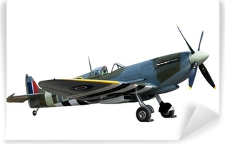 beautifully restored vintage WW2 Spitfire isolated on white Vinyl Wall Mural