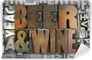 Beer and Wine Vinyl Wall Mural