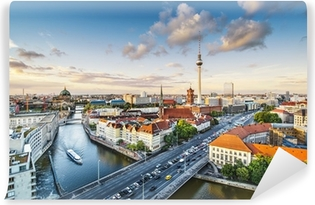 Berlin, Germany Afternoon Cityscape Vinyl Wall Mural