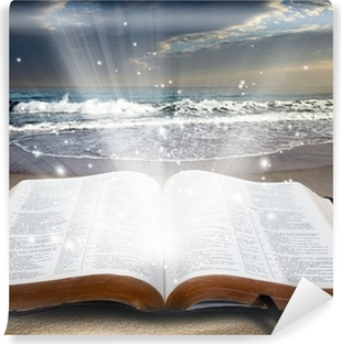 Bible at beach Vinyl Wall Mural
