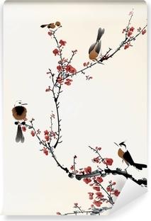 birds painting Vinyl Wall Mural