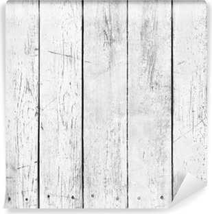 Black and white background of wooden plank Vinyl Wall Mural