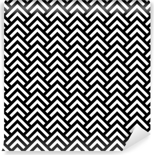 Black and white chevron geometric seamless pattern, vector Vinyl Wall Mural